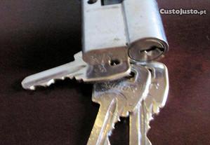 Canhões fechadura porta com chaves