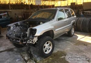 Jeep Grand Cherokee Limited as pecas
