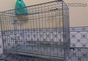 jaula transportadora para cães tambem serve de gai