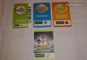 super animais 1, 2, 3 e super desportos (cartas)