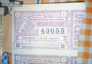 bilhete da lotaria ano 1958