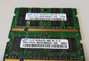 Memória Ram Laptop DDR2 1 - 2GB