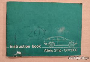 Alfa Romeo Alfetta GTV - Manual de Proprietário