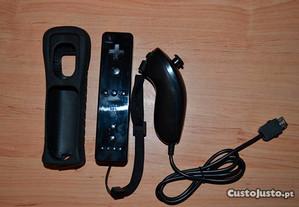 Comando Novo Preto Wii + Nunchuk - Portes Grátis