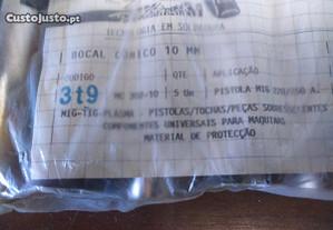 5 Bocais Cónicos 10mm p/ Soldadura MIG tocha 24