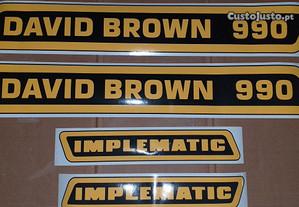 Kit autocolantes completo DAVID BROWN 990