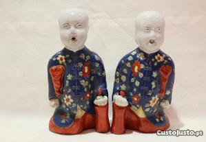 Par de Laughing boy Porcelana Chinesa Jiaqing 15 c