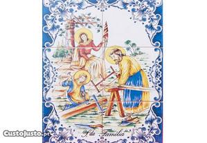 Painel de Azulejos SAGRADA FAMÍLIA Azul 45 x 30 cm