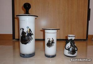 Conjunto de decoração em vidro (3 peças)