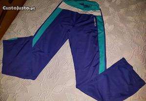 calças de desporto tamanho 36 roxas