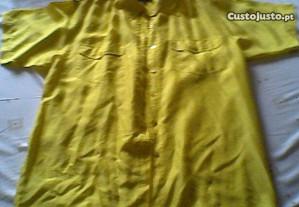Camisa de Seda Amarela (nova)