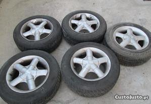 Jantes 15 furação 5x108 com pneus