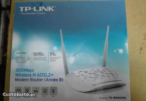 Modem Router TP-Link 300Mbps ADSL2+ RDIS - Novo
