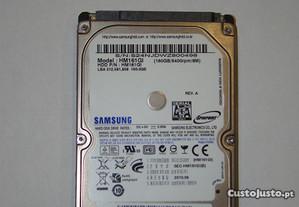 Disco rigido samsung 2.5 160GB
