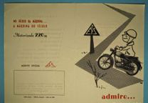 Folheto motorizada EFS 220 m antigo 1962 50cc
