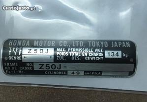 Chapa de quadro da Honda Z50 J NOVA a estrear