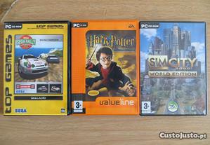Jogos Sim City, Harry Potter e Sega Rally para PC