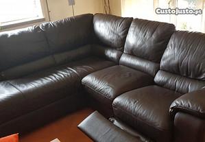 Sofá com chaise lounge electrica da marca NATUZZI