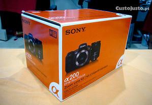 Sony Alpha 200 DSLR (como nova - sem sinais de uso