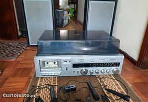 gira-discos rádio e cassete Rising