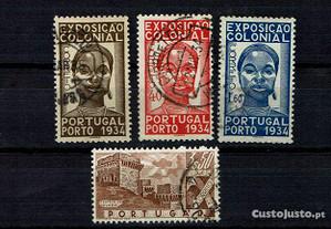 Selos Portugal 1934-Af.561/63 e 1946-Af. 671 Usado