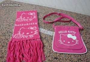 Conjunto cachecol + carteira hello kitty