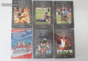 A História do Futebol 5 DVD's + 1 Força campeões