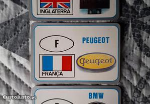 3 Calendários de 1992 - Marcas de Automóveis
