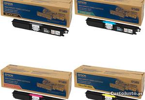 Toner Epson C1600/CX16 Original Selado Pack 4 Core