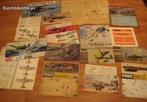 Prospectos Aviao kit antigo