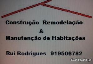 Construção Remodelação Manutenção de Habitações