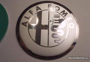 simbolos jantes Alfa romeo cinza 60mm lisos