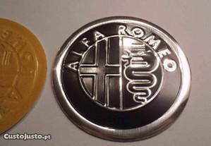 simbolos jantes Alfa romeo preto 60mm lisos