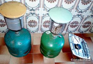 Candeeiro/fogão de campismo a gás