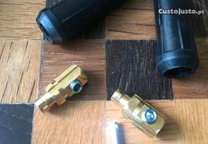 Pontas cabos aparelho soldar inverter encaixe rápi