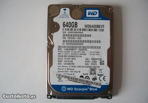 Disco HDD Western Digital Blue 640gb Sata