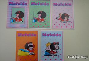Antigos cadernos escolares - Mafalda