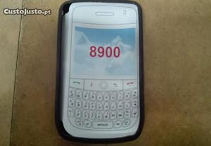 Capa em Silicone Gel Blackberry 8900 Preta - Nova
