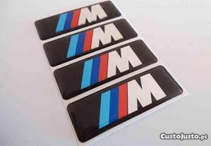 Simbolo M bmw silicone quadrado 45x16mm