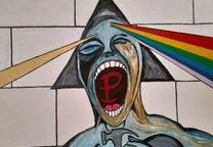 Quadro Pink Floyd em tela