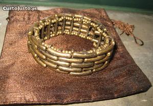 Pulseira de Designer Pedra Dura(Nunca usada)