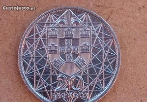 Moeda de Prata 20$00 Ponte de Salazar