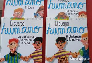 4 Livros em Espanhol - El Cuerpo Humano Idea Books