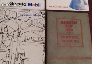 Austin A70,A90 manual, revistas Mobil, Shell, Esso