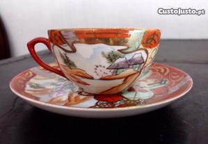 Serviço de chá antigo da Vista Alegre