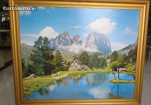 Quadro Lago Delle Dolomiti, Foto Ghedina Dir