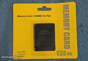 Memória card ps2 128 MB novo.