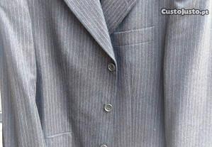 Fato de Homem cinzento c risca SAINT-TROP t.40