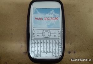 Capa em Silicone Gel Nokia Asha 302 / 3020 Preta