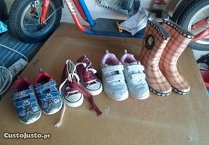 4 pares de calçado menino e menina negociavel